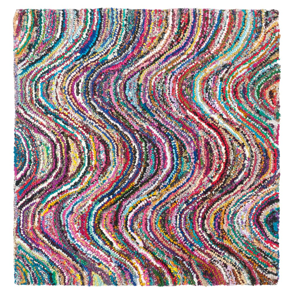Solid Tufted Square Accent Rug - (4'x4') - Safavieh, Multi-Colored