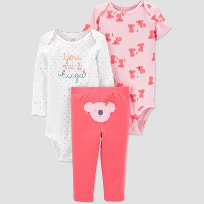 Baby Girls' Koala Top & Bottom Set - Just One You® made by carter's Pink