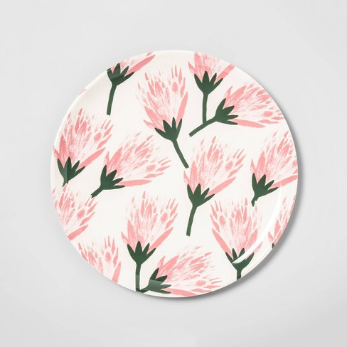 """14"""" Melamine Tropical Floral Serving Tray Pink - Opalhouse™ - image 1 of 2"""
