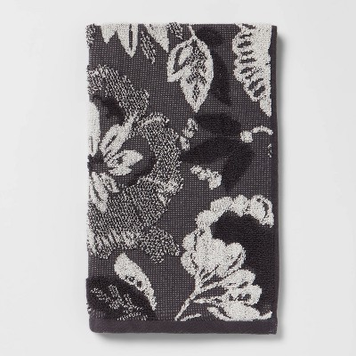Floral Hand Towel Black/White - Threshold™