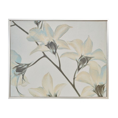 """39.6""""X31.6"""" Lilies Canvas Art with Frame White - image 1 of 5"""