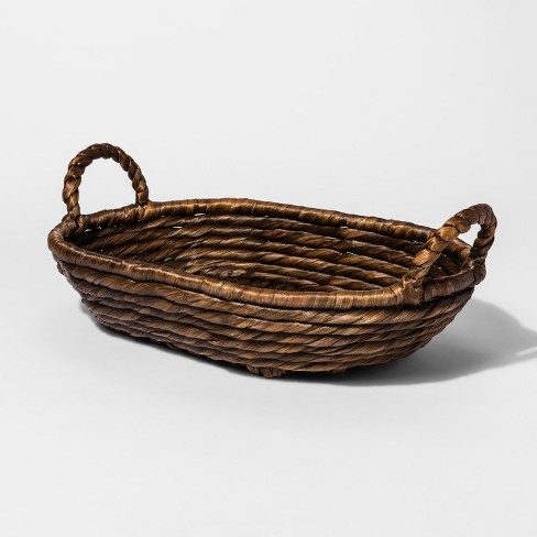 Water Hyacinth Basket Tray - Brown - Threshold™ - image 1 of 1