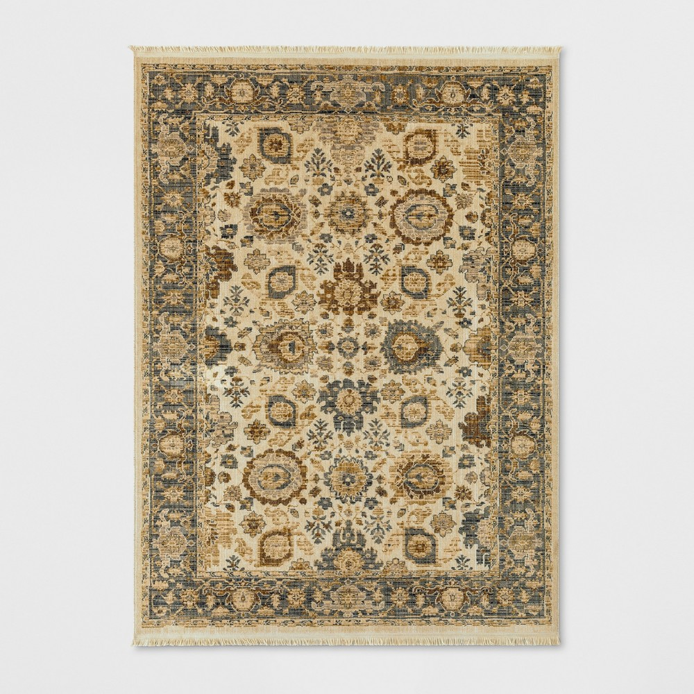 Persian with Fringe Border Woven Area Rug Neutral