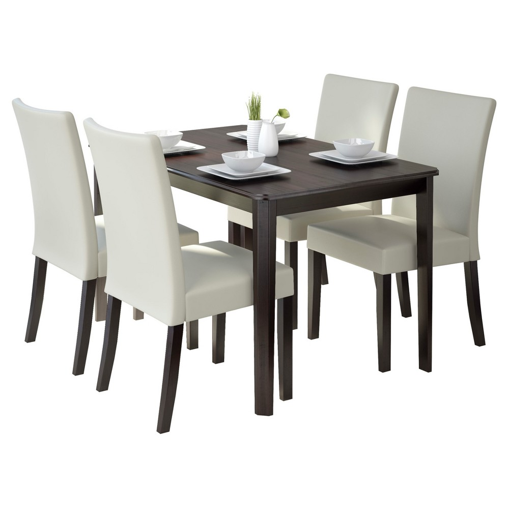 4 Seating Atwood Dining Set - CorLiving, Dark Cappuccino