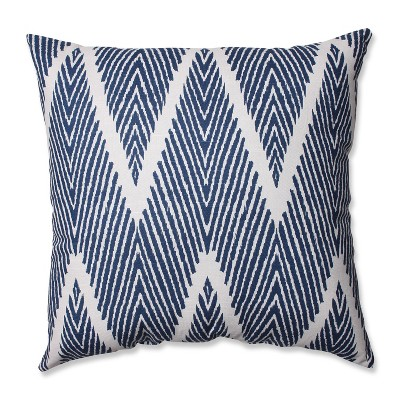 Navy Bali Throw Pillow 18 x18  - Pillow Perfect