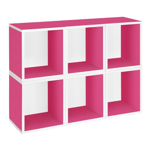 Way Basics 6 Stackable Eco Storage Cubes, Pink - Formaldehyde Free - Lifetime Guarantee - image 1 of 7