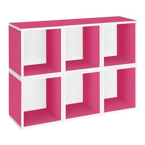 Way Basics 6 Stackable Eco Storage Cubes, Pink - Formaldehyde Free - Lifetime Guarantee - image 1 of 4