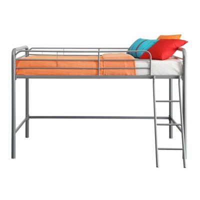 Adeline Junior Metal Loft Bed Silver - Room & Joy
