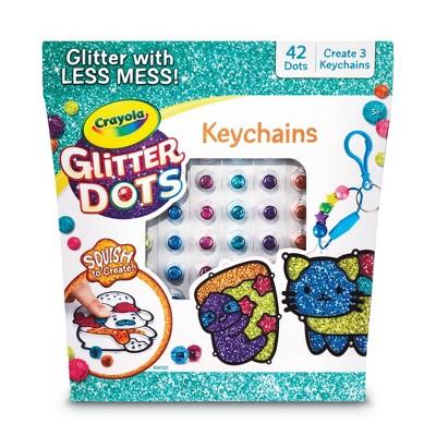 Crayola 72pc Glitter Dots Keychains Craft Set