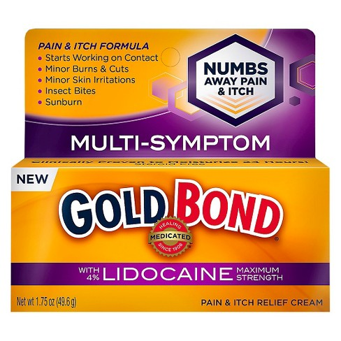 Gold Bond Pain and Itch Relief Cream with Lidocaine -1.75 oz - image 1 of 3