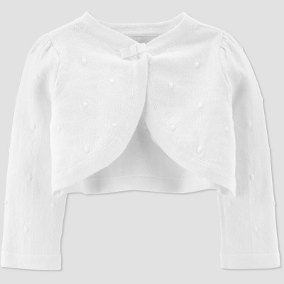 Baby Girls' Cardigan - Just One You® made by carter's White 18M