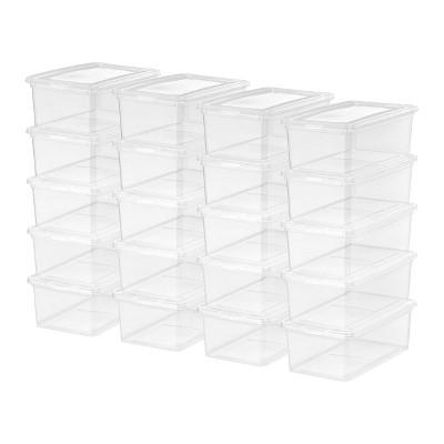 IRIS 20pk 5qt Clear Storage Box Clear