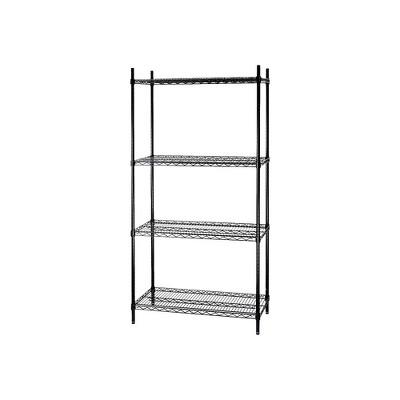 """Staples 4-Shelf Wire Shelving Storage Unit (72"""" x 48"""" x 18"""") 810837"""