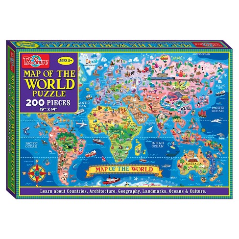 T.S. Shure - Map of the World Jigsaw Puzzle, 200-Piece - image 1 of 4