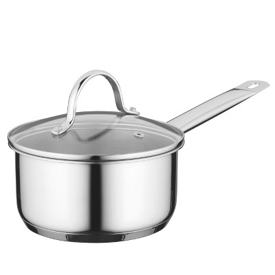 "BergHOFF Comfort 6.25"" 18/10 Stainless Steel Covered Saucepan"
