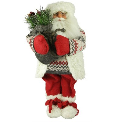 "Kaemingk 18"" Red and White Nordic Santa Claus Christmas Tabletop Figurine"