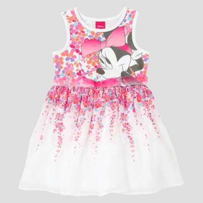 ac9efafd95 Toddler Girls Minnie Mouse A Line Dress Disney Eggshell 4t Target