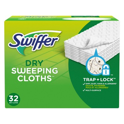 Swiffer Sweeper Dry Sweeping Pad Multi Surface Refills - Unscented - 32ct