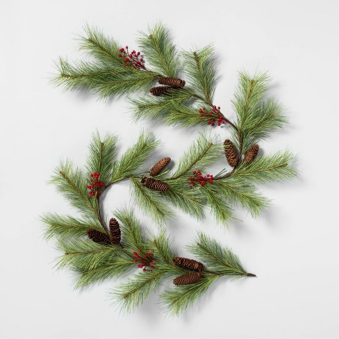 """72"""" Faux Pine Garland with Red Berries - Hearth & Hand™ with Magnolia - image 1 of 3"""