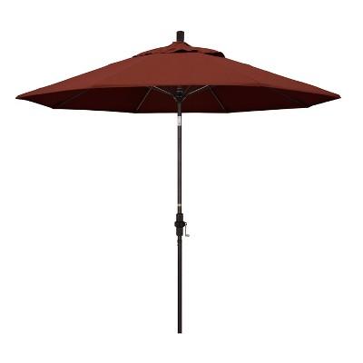 9u0027 Aluminum Collar Tilt Crank Sunbrella Patio Umbrella   California Umbrella