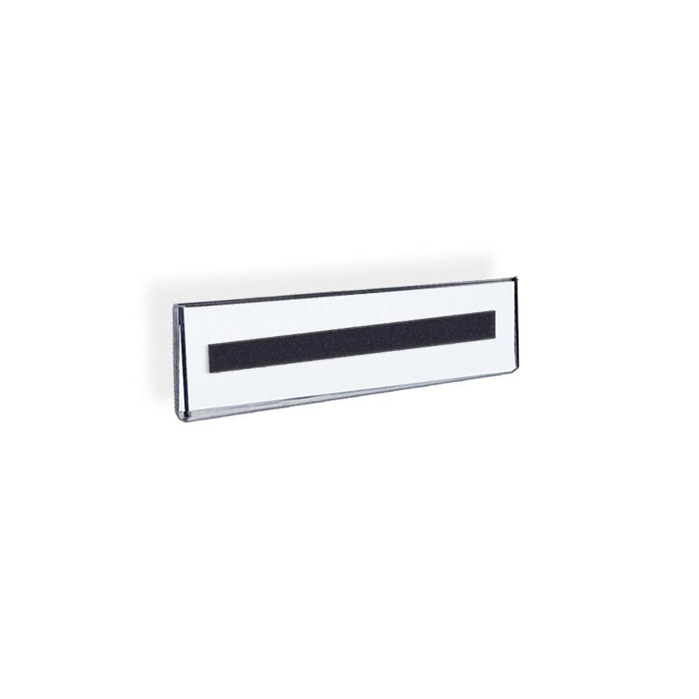 Azar Displays 8 5 X 2 5 10pk Acrylic Wall Mount Nameplate Sign Holder With Magnetic Tape