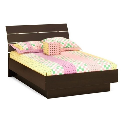 Wood Queen Platform Bed In Coffee Brown Atlin Designs Target