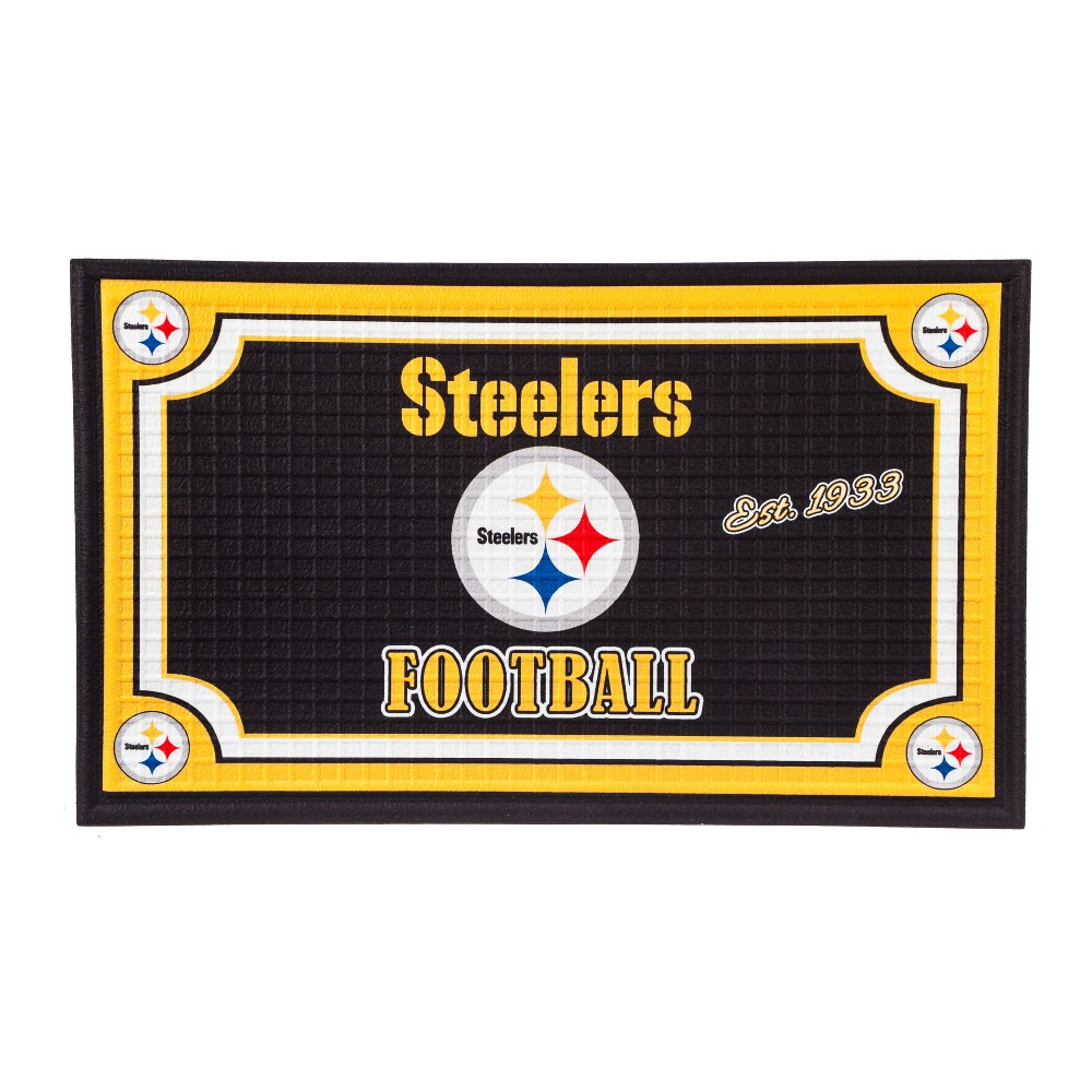 Pittsburgh Steelers Embossed Welcome Mat - 18