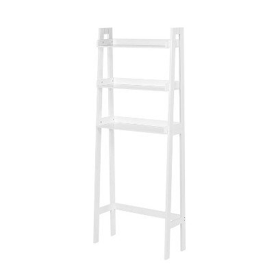 Over Toilet Space Saver with Tiered Ladder Shelves White - RiverRidge