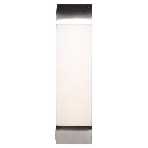 "West End 17""W LED Vanity Light - Brushed Steel - Opal Glass Shade - image 1 of 3"