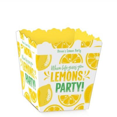 Big Dot of Happiness So Fresh - Lemon - Party Mini Favor Boxes - Citrus Lemonade Party Treat Candy Boxes - Set of 12