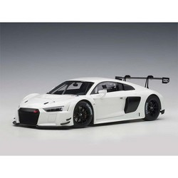 Audi R8 FIA GT GT3 Plain Color Version White with Black Wheels 1/18 Model Car by Autoart