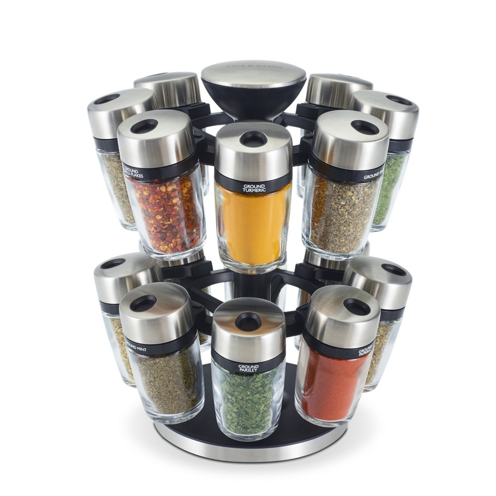 Image of Cole & Mason 16 Jar Spice Rack Carousel