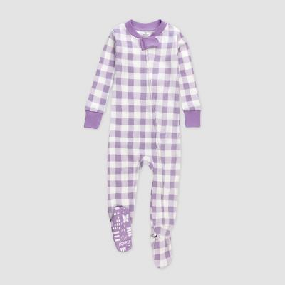 Honest Baby Girls' Painted Buffalo Pajama Set - Purple