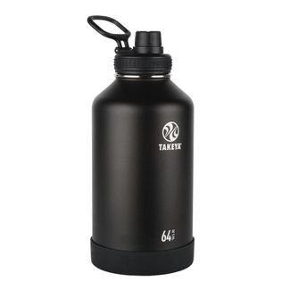 Takeya Actives 64oz Insulated Stainless Steel Bottle with Insulated Spout Lid - Black