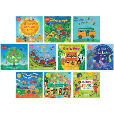 School Specialty Exclusive Read Along Collection with CDs, Grade PreK to 2, set of 10