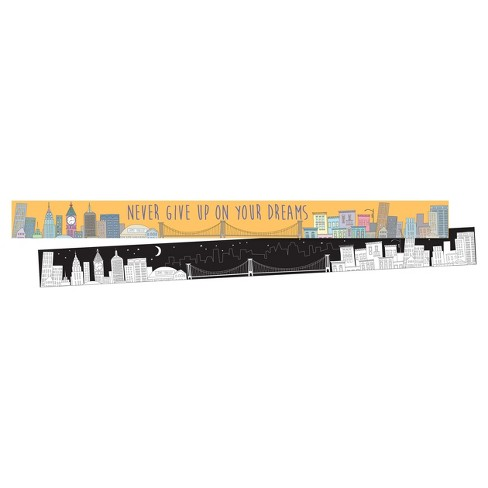 Barker Creek® Bulletin Board Double-Sided Border - Color Me! City - image 1 of 4