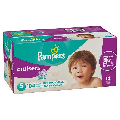 Pampers Cruisers Disposable Diapers Enormous Pack - Size 5 (104ct)