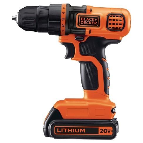 8530ade65 BLACK+DECKER™ 20V MAX* Lithium Drill/Driver Kit (Orange W/ Black) - LDX120C  : Target