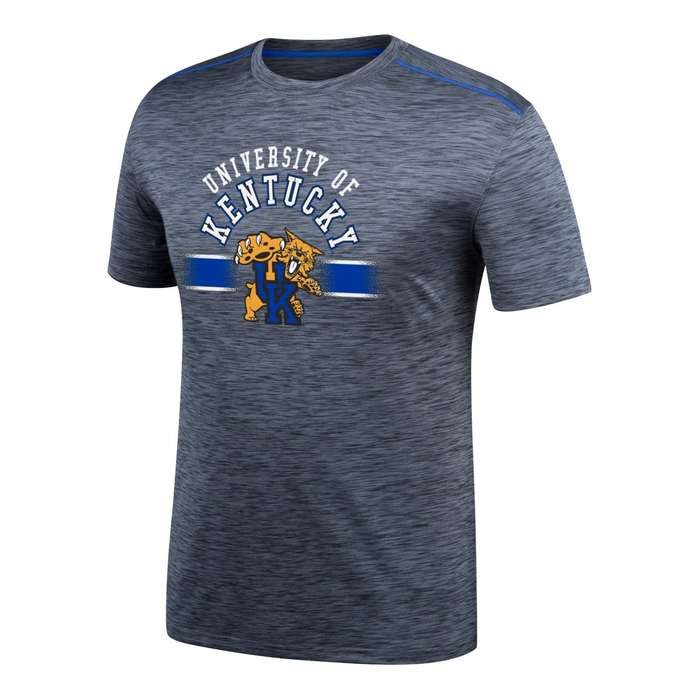 Kentucky Wildcats Men's Invader II Spacedye Black Poly Performance T-Shirt S