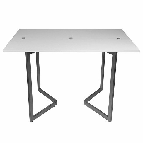 Miraculous Spacemaster Transforming Expandable Dining Table Foldable Office Desk White Gmtry Best Dining Table And Chair Ideas Images Gmtryco