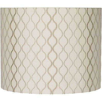 Springcrest Embroidered Hourglass Lamp Shade 14x14x11 (Spider)
