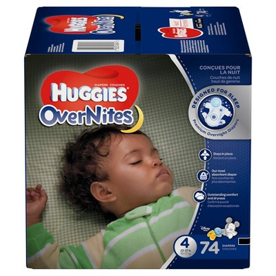 Huggies OverNites Diapers - Size 4 (74ct)