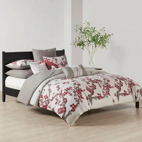Queen Cherry Blossom Duvet Cover Mini Set Multi Target