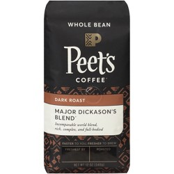 Peet's Major Dickason's Blend Dark Roast Whole Bean Coffee - 12oz