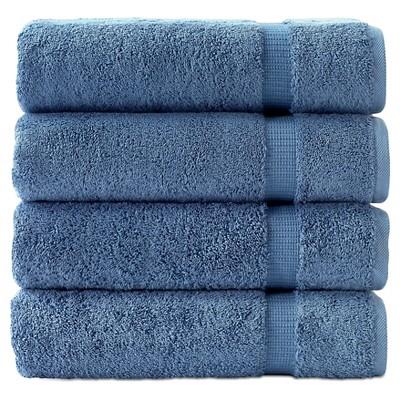 4pc Villa Bath Towel Set Blue - Royal Turkish Towel
