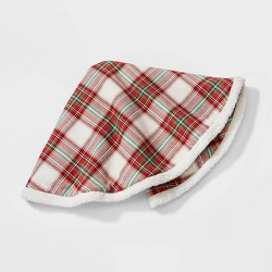 "48"" Plaid Christmas Tree Skirt Red and Green - Wondershop™"