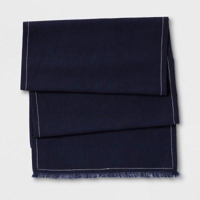 Linen Table Runner Navy - Threshold™