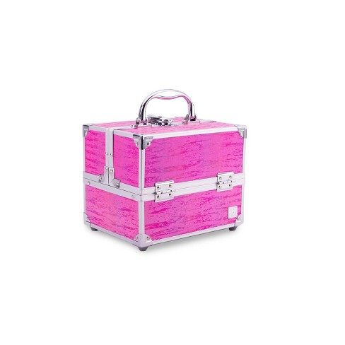 Caboodles Train Case - Holographic Pink - image 1 of 4