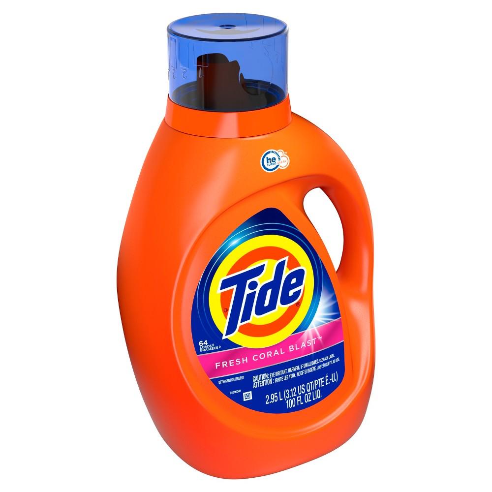 Tide Fresh Coral Blast Liquid Laundry Detergent - 100 fl oz