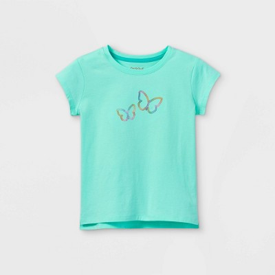 Girls' Embroidered Short Sleeve T-Shirt - Cat & Jack™